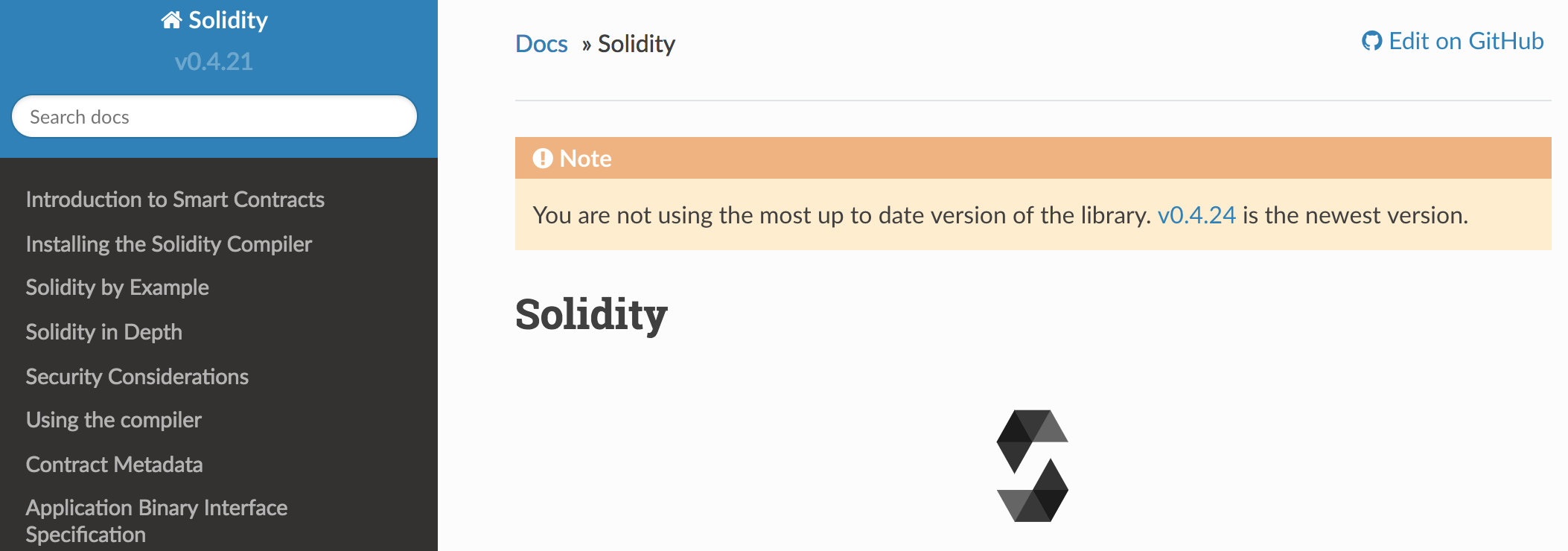 Solidity Documentation